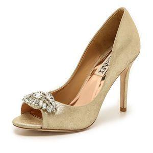 Badgley Mischka Lavender Platino Heels